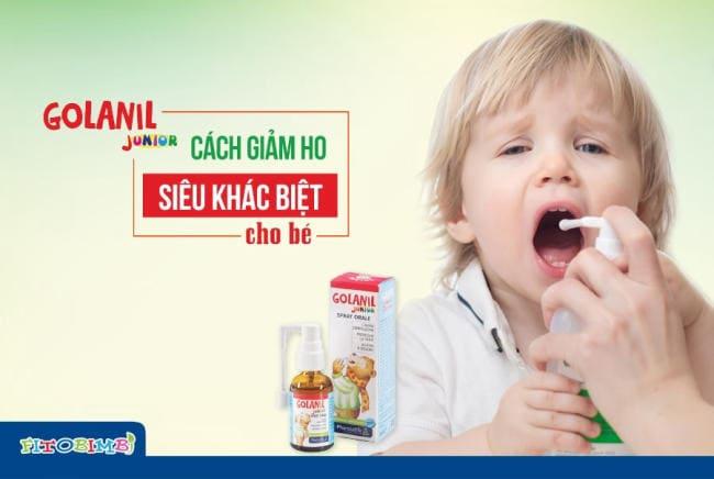 """Xịt họng Golanil - """"vũ khí"""" lợi ích giúp đánh bay cơn ho, đau họng cho trẻ từ 0 - 2 tuổi"""