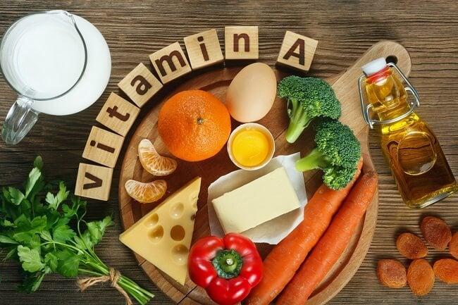 Bổ sung vitamin a bằng các thực phẩm ăn uống hàng ngày