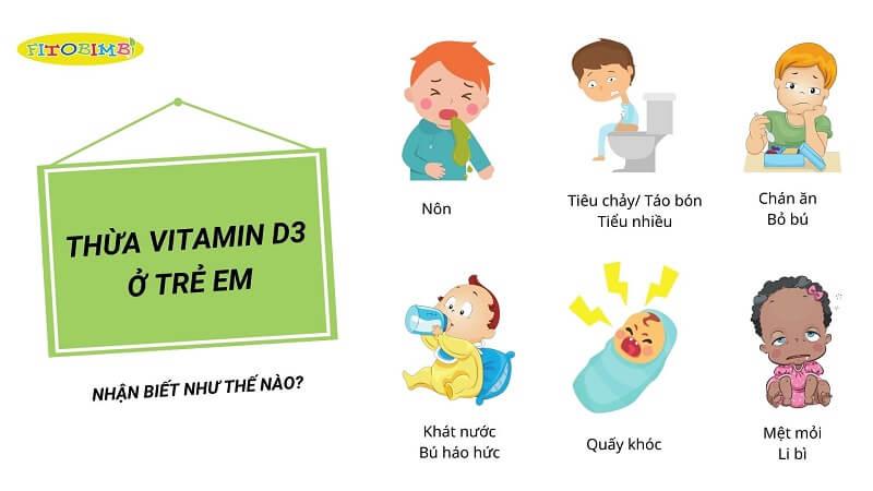 Biểu hiện của trẻ khi thừa vitamin D3