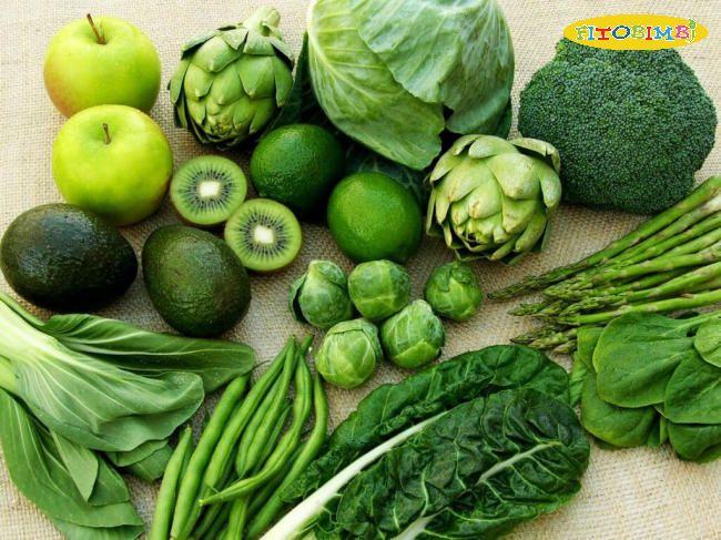 Các loại rau xanh lá - Dinh dưỡng cho bé tăng động