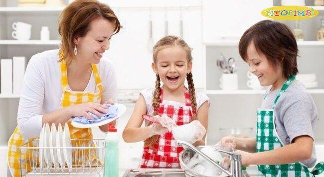 Khuyến khích trẻ tham gia các công việc gia đình