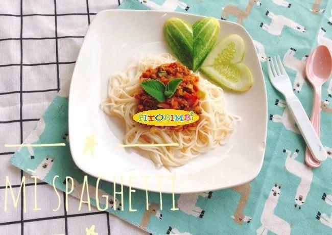 Mì Spaghetti cho bé ăn dặm