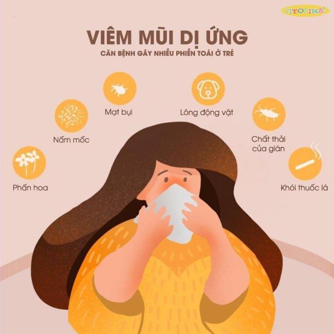 Tác nhân gây viêm mũi dị ứng ở quanh trẻ