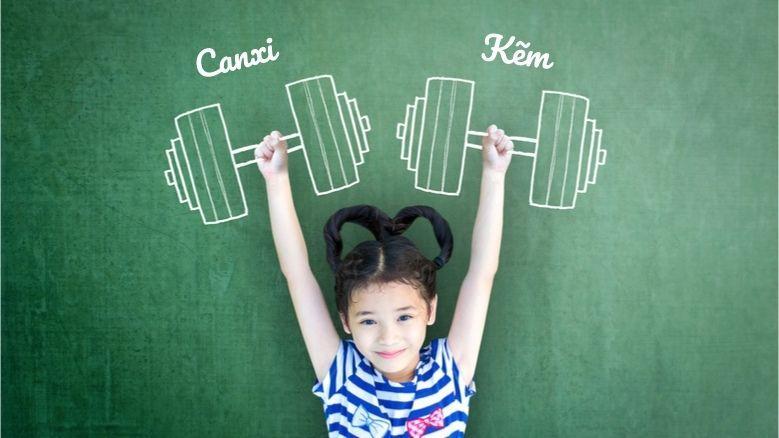 Canxi và kẽm giúp trẻ cao lớn, khỏe mạnh và phát triển vượt trội