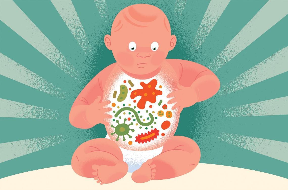 Hệ vi khuẩn đường ruột của trẻ sơ sinh chưa có khả năng tự sản xuất vitamin K