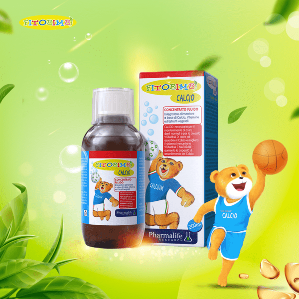 Fitobimbi Calcio dạng siro dễ uống, dễ hấp thu, lại bổ sung đồng thời canxi và vitamin D3 cho trẻ