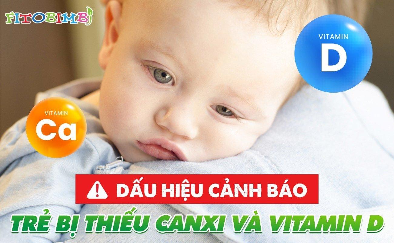 biểu hiện trẻ thiếu canxi và vitamin d