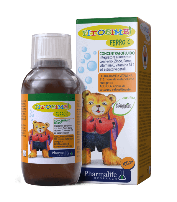 Fitobimbi Ferro C chứa cả sắt và vitamin C cho bé