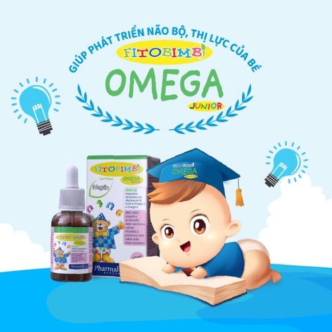 Fitobimbi Omega Junior - Bổ sung Omega 3, Omega 6 100% từ thảo dược thiên nhiên