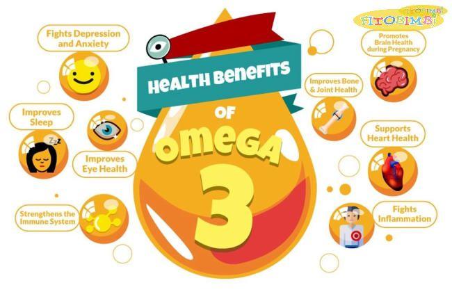 Những lợi ích sức khỏe của Omega 3