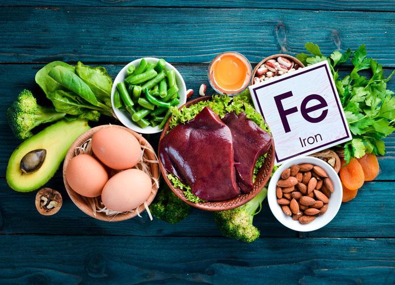Rất nhiều thực phẩm chứa sắt
