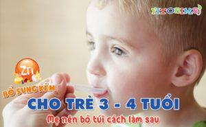 bổ sung kẽm cho trẻ 3-4 tuổi