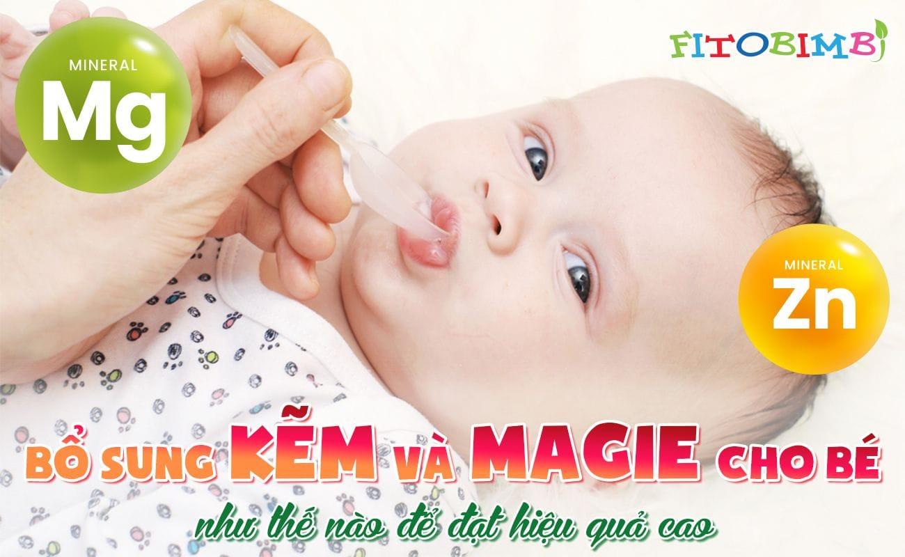 bổ sung kẽm magie cho bé