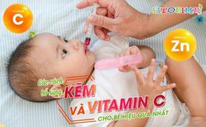 bổ sung kẽm và vitamin c cho bé