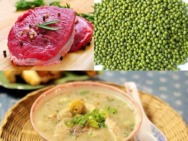 Thịt bò và đậu xanh là những thực phẩm nhiều sắt