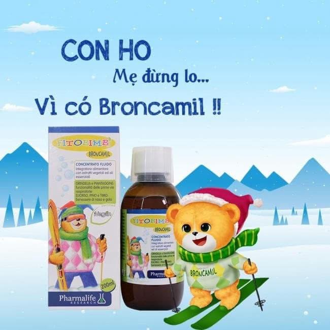 Fitobimbi Broncamil - Siro ho cho bé từ 6 tháng tuổi