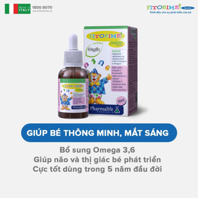 Tác dụng của Fitobimbi Omega Junior